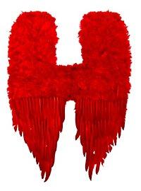 Rote Dämonenflügel Federn