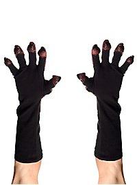 Rote Teufelshände Handschuhe