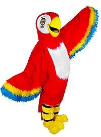 Roter Papagei Maskottchen