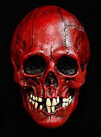 Roter Schädel Maske aus Latex