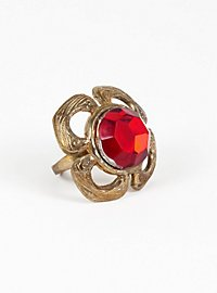 Ruby Ring cloverleaf