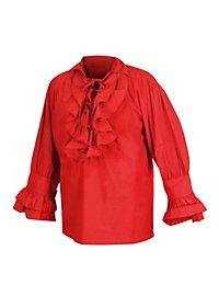 Rüschenhemd - Renaissance, rot