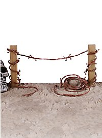 Rusty Barbed Wire Halloween Decoration