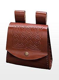 Sacoche de ceinture celte marron