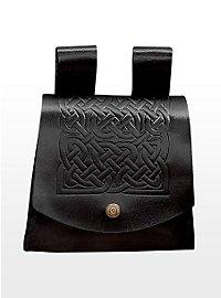 Sacoche de ceinture celte noire