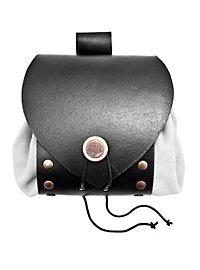 Sacoche de ceinture en cuir riveté blanc