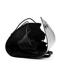 Sacoche de ceinture en cuir riveté noir