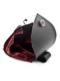 Sacoche de ceinture en cuir riveté rouge
