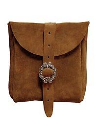 Sacoche de ceinture en daim marron clair