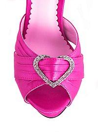 Sandales avec cœur roses