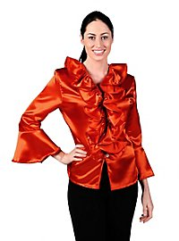 Satin Blouse orange