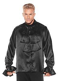 Satin shirt with Jabot black