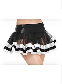 Satin Trimmed Petticoat black & white