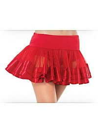 Satin Trimmed Petticoat red