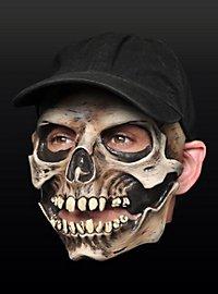 Schädelmütze Halbmaske aus Latex