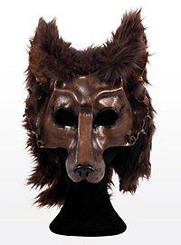 Schattenwolf Ledermaske