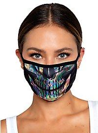 Schimmernder Totenkopf Mundschutz Maske