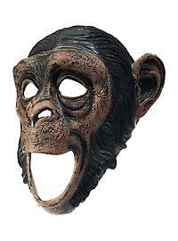 Schimpanse Maske mit offenem Mund
