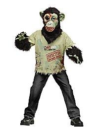 Schimpansen-Zombie Kinderkostüm