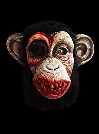 Schimpansen-Zombie Maske aus Latex