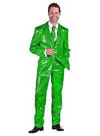 Schlagersänger Pailletten Anzug grün Kostüm