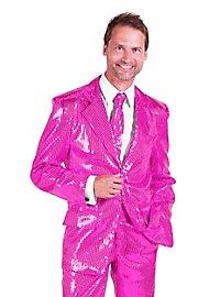 Schlagersänger Pailletten Anzug rosa Kostüm