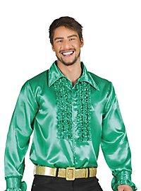Schlagerstar Rüschenhemd dunkelgrün