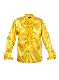 Schlagerstar Rüschenhemd gelb