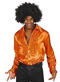 Schlagerstar Rüschenhemd orange