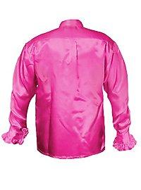 Schlagerstar Rüschenhemd pink