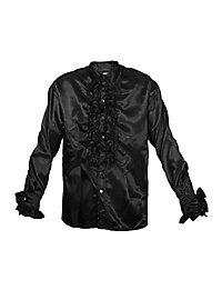 Schlagerstar Rüschenhemd schwarz