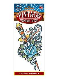 Schlange-Dolch Vintage Klebe-Tattoo