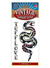 Schlange Vintage Klebe-Tattoo