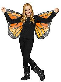 Schmetterlings Flügeltuch für Kinder gold