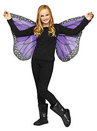 Schmetterlings Flügeltuch für Kinder lila
