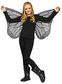Schmetterlings Flügeltuch für Kinder schwarz