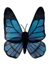 Schmetterlingsflügel schwarz-türkis