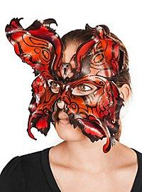 Schmetterlingsmaske rot