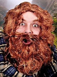Schotte Bart mit Perücke