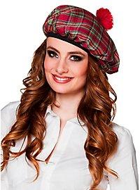 Schottenmütze für Damen rot
