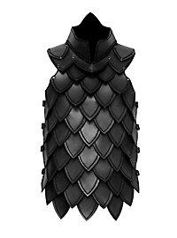 Schuppenpanzer aus Leder schwarz