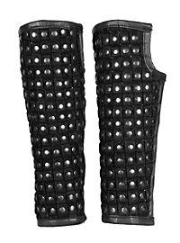 Beinschienen - Schurke, schwarz
