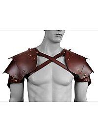 Schurken Schulterschutz aus Leder braun