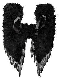 Schwarze Dämonenflügel Federn