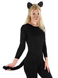 Schwarze Katze Accessoire Set