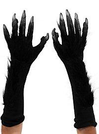 Schwarze Monsterklauen Handschuhe