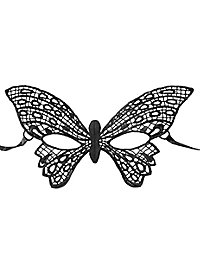 Schwarze Spitzenmaske Schmetterling