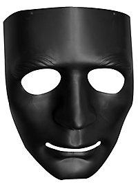 Schwarzer Pantomime Halbmaske