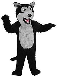 Schwarzer Wolf Maskottchen