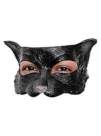 Schwarzes Kätzchen Augenmaske